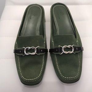 Cole Haan Nike Air Sage Green Suede Loafer Slide